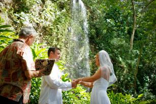 waterfall wedding site on kauai